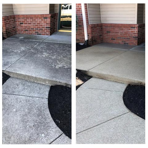 concrete floor and sidewalk cleaning
