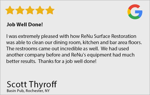 customer reviews - Renu Surface Restoration, Pittsford, NY