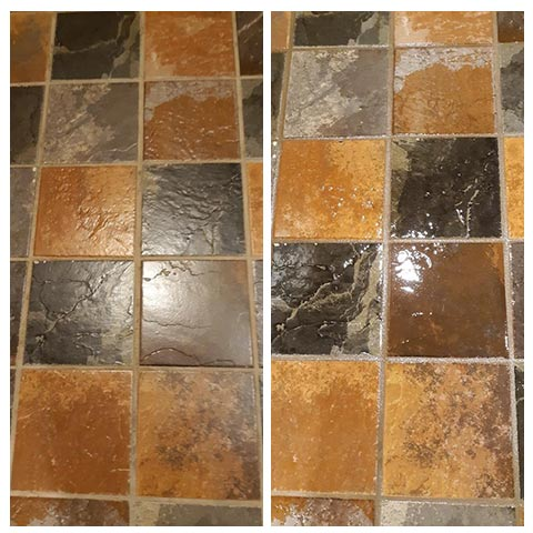 tile and grout - cleaned and sealed